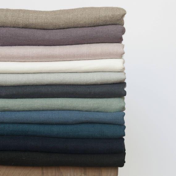 Stone Washed 100/% Linen Chartreuse Dressmaking Fabric Fashion