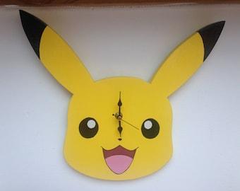 Pokemon wall clock/boys room decor/bedroom decor/children's room