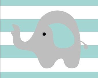 Children's Nursery Elephant Poster Print