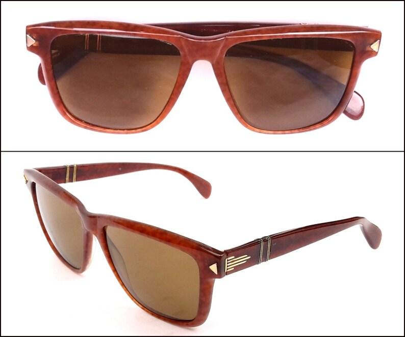 cb656604a8 80s Vintage Persol Ratti Meflecto 311 Sunglasses 18kt Gold