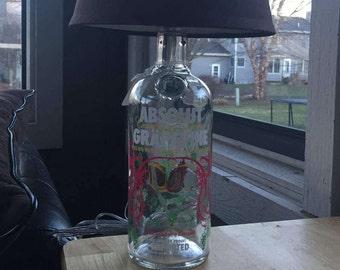 Absolut Grapevine Vodka Lamp (750ml Bottle)