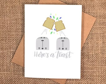 Here's a Toast to Your Birthday Card