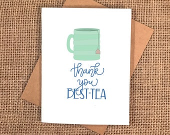 Thank You Best-Tea Card