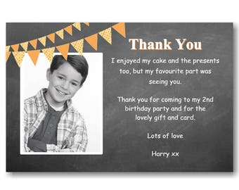 30 Personalised Thank You Thankyou Cards Invitations / Invites Birthdays Christening Communion Complete with self seal Envelopes Ref T55