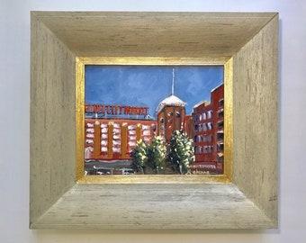 "Ponce City Market // 8""x 10"" // Original Oil Painting// On Panel // Plein Air // by Mandie Aberra// Golden Fin Studios"