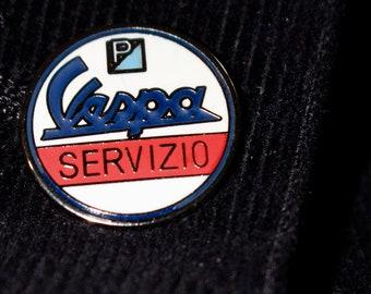 c3f456448ddf Vespa Servizio - Enamel Pin Badge - Scooterists - Mod - Northern Soul