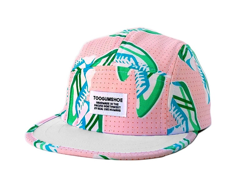 493745629fa14 Pink Sneakerhead Retro 5 Panel Hat Polo Hat Dad Hat Shorty