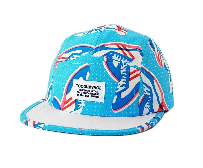 126197708a914 Blue Sneakerhead Retro 5 Panel Hat Polo Hat Dad Hat Shorty