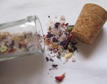 Bath salts, bath soaks, herbal bath soaks, natural bath salts, relaxation bath salt, boanical bath soaks, herbal bath tea, organic bath salt