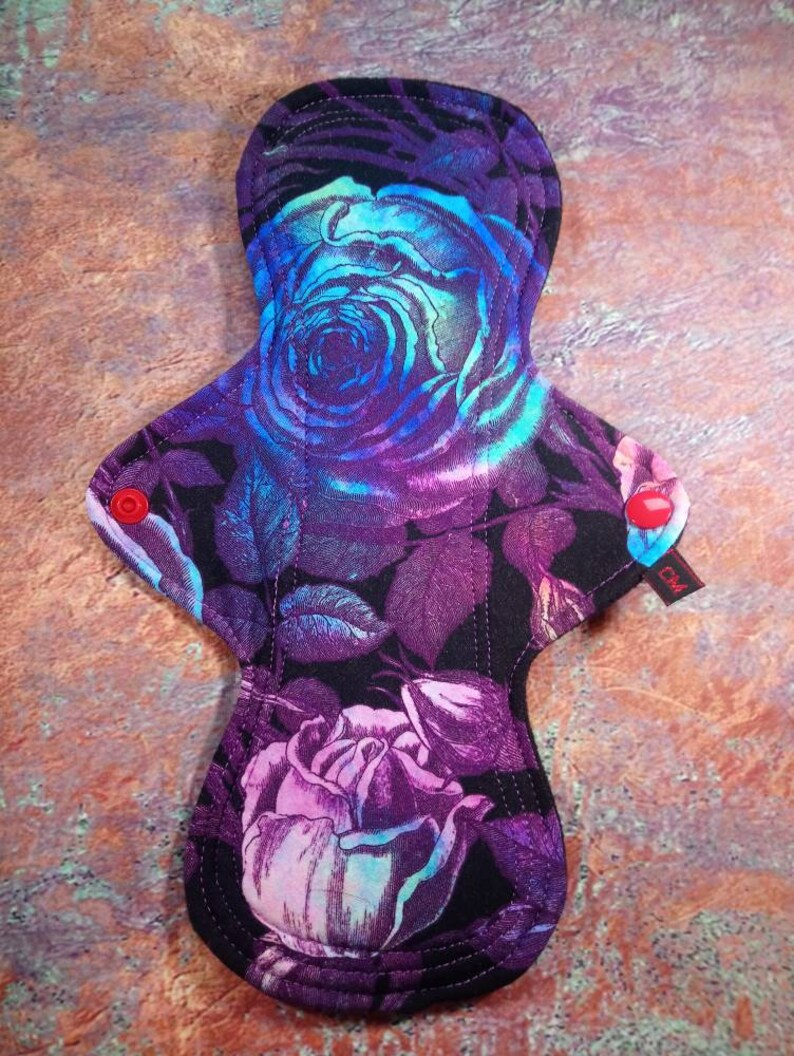 Cotton Jersey top Windpro backed Super Postpartum Flow Cloth Menstrual Pad Zorb3d core Zorb Ready Made 11 inch CSP
