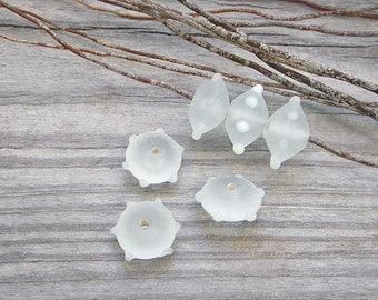 6 Perlen Igel Handwerk Glas 15mm