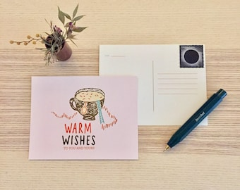 Warm Wishes Postcard