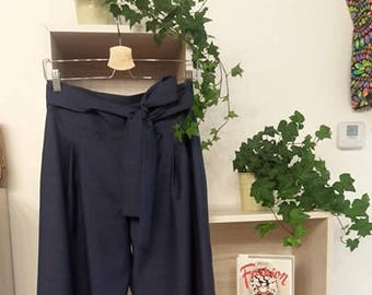 SALES 20% OFF linen Palace pants with bow Belt