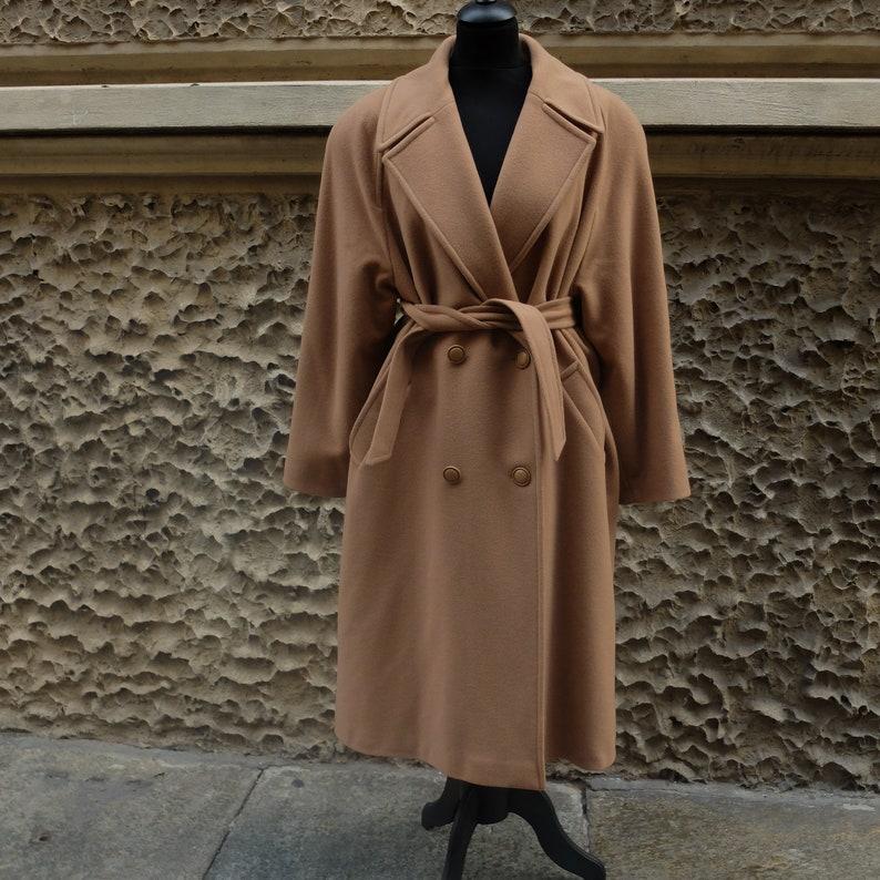 Vintage camel coat in pure wool