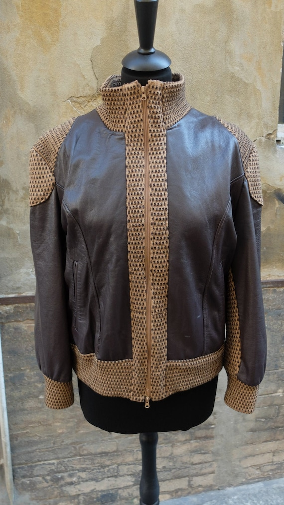 1980s leather jacket