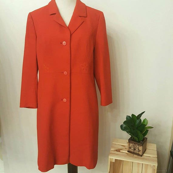 vintage red overcoat with details still
