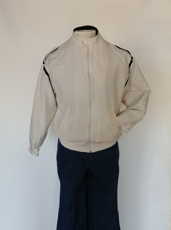 bomber jacket in the 1980s