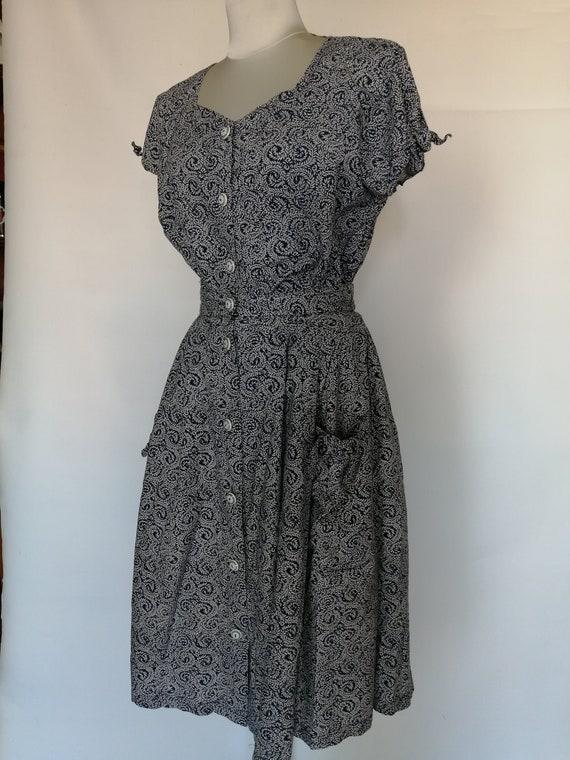Complete skirt blouse 1980s