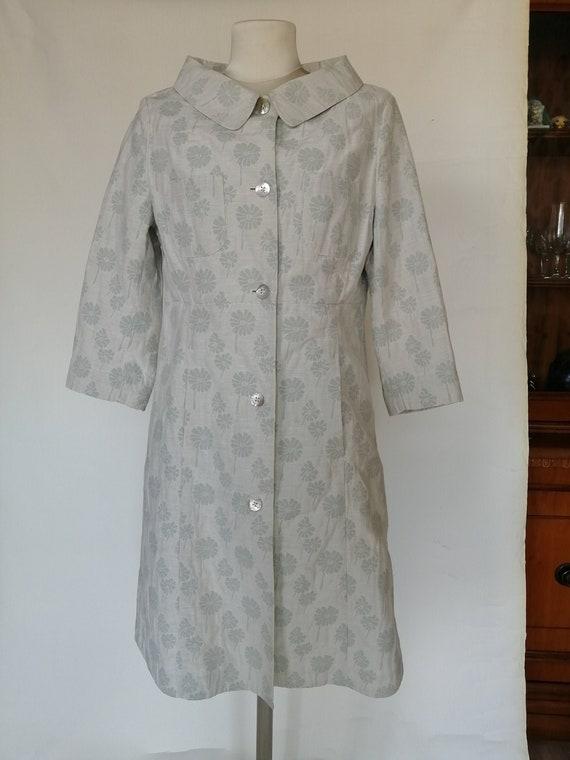 cotton coat patterned jacquard 1960s