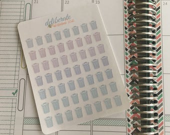 Trash Reminder Planner Stickers