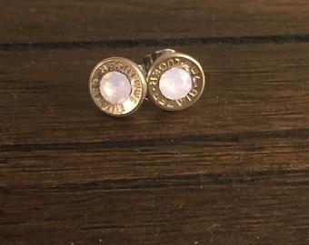 Made to order bullet stud earrings