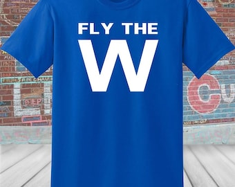 picture regarding Printable Cubs W Flag known as Cubs fly the w flag Etsy