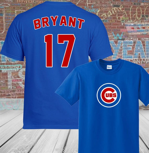 timeless design a1670 2dd54 Chicago Cubs Kris Bryant #17 T-Shirt