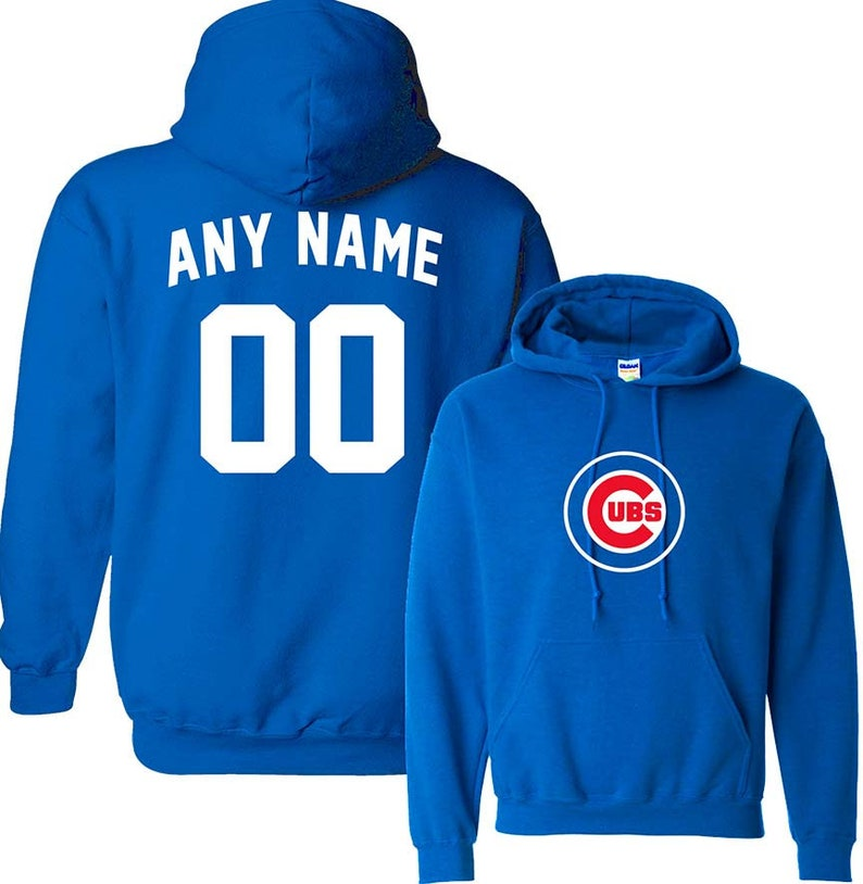super popular 2ee07 f2be9 Custom Personalized Adult/ Youth Chicago Cubs Any Name and Number Hoodie