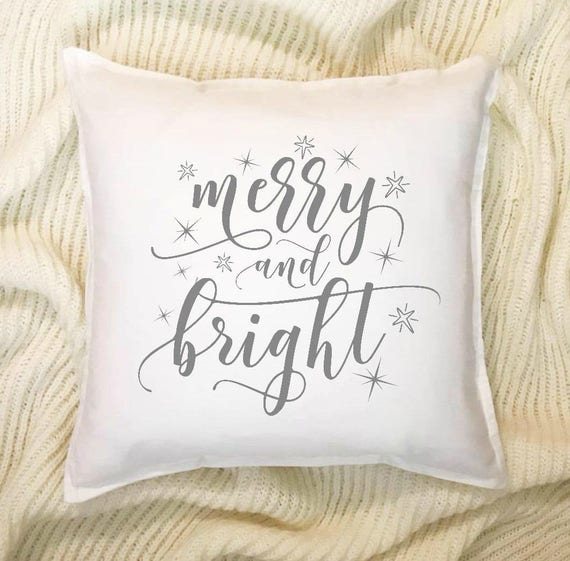 couch pillow, throw pillow, christmas gift, home decor, merry and bright,  christmas pillow, christmas decor, gifts 20, farmhouse pillow