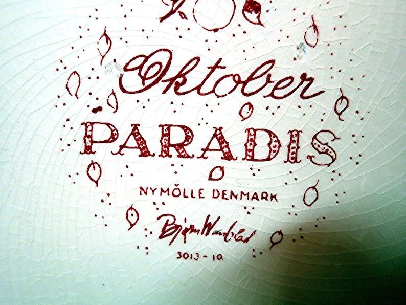 Vintage wall plate Bj\u00f8rn Wiinblad Denmark Optimisme November Paradis October
