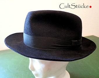 Vintage Cooler Hat Herrenhut black felt