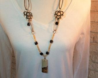 Necklace Picture Jasper & Chain