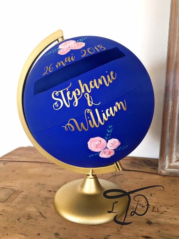 Globe Mariage Globe Urne Globe Terrestre Cadeau Mariage Etsy