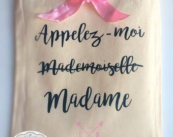 Tote bag pour mariée en coton