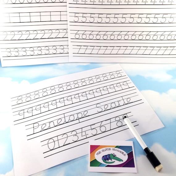 Schreibschrift Tracing Blätter mit Guide Linien Alphabet   Etsy