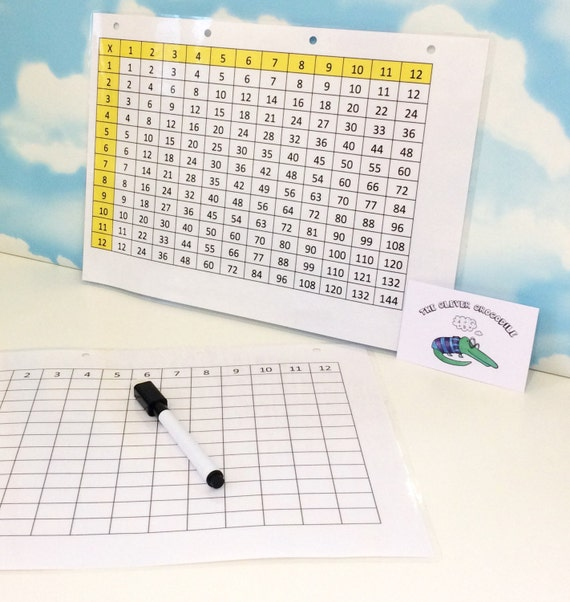Times tables grille, Multiplication carrée, calcul, didactique, KS1, KS2, nettoyez avec un chiffon, chiffon sec pen, aide Maths