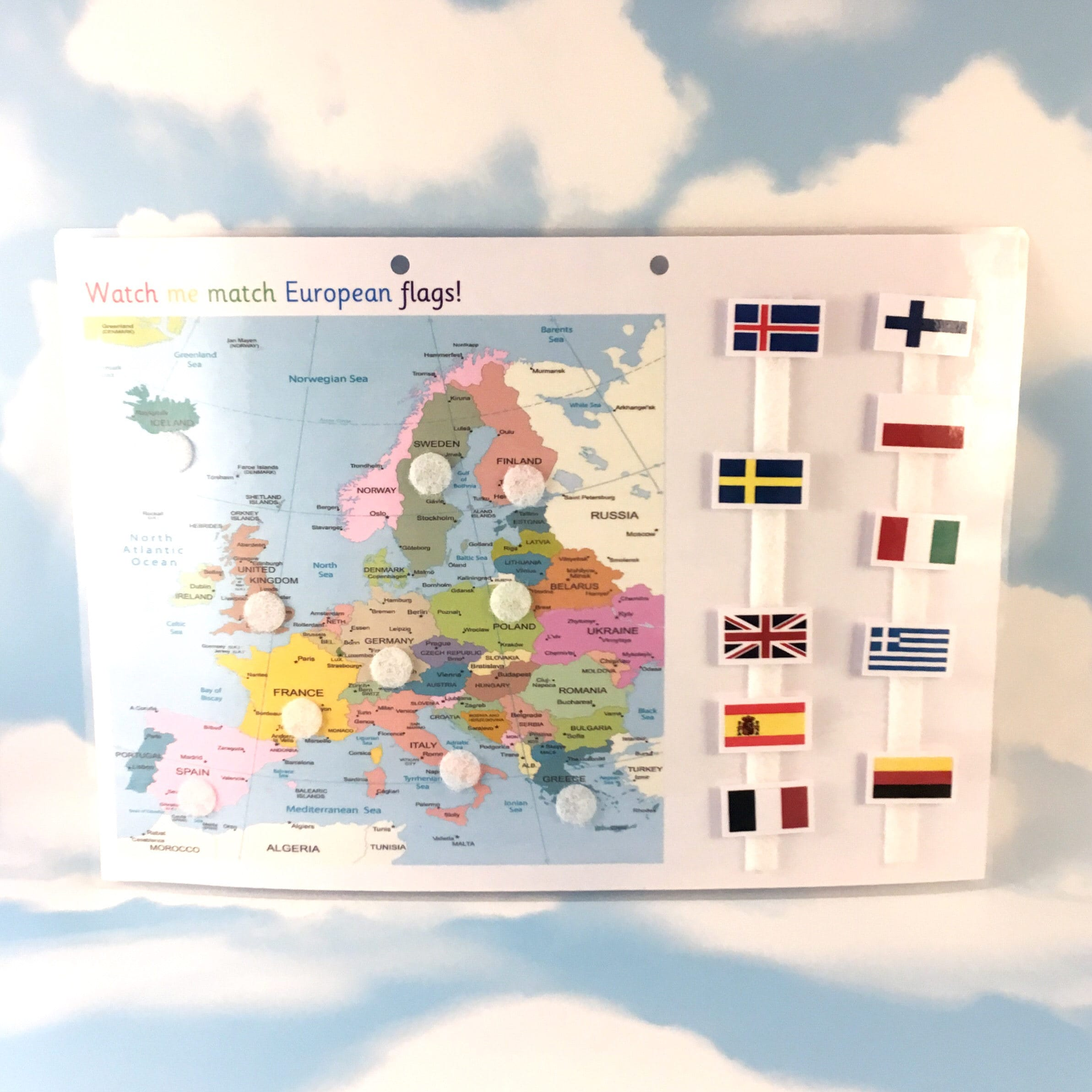 Map Of France For Ks2.European Flags And Map Ks2 Matching Game Geography Year 3 Visual Learner Removable Pieces Matching Homework Resource