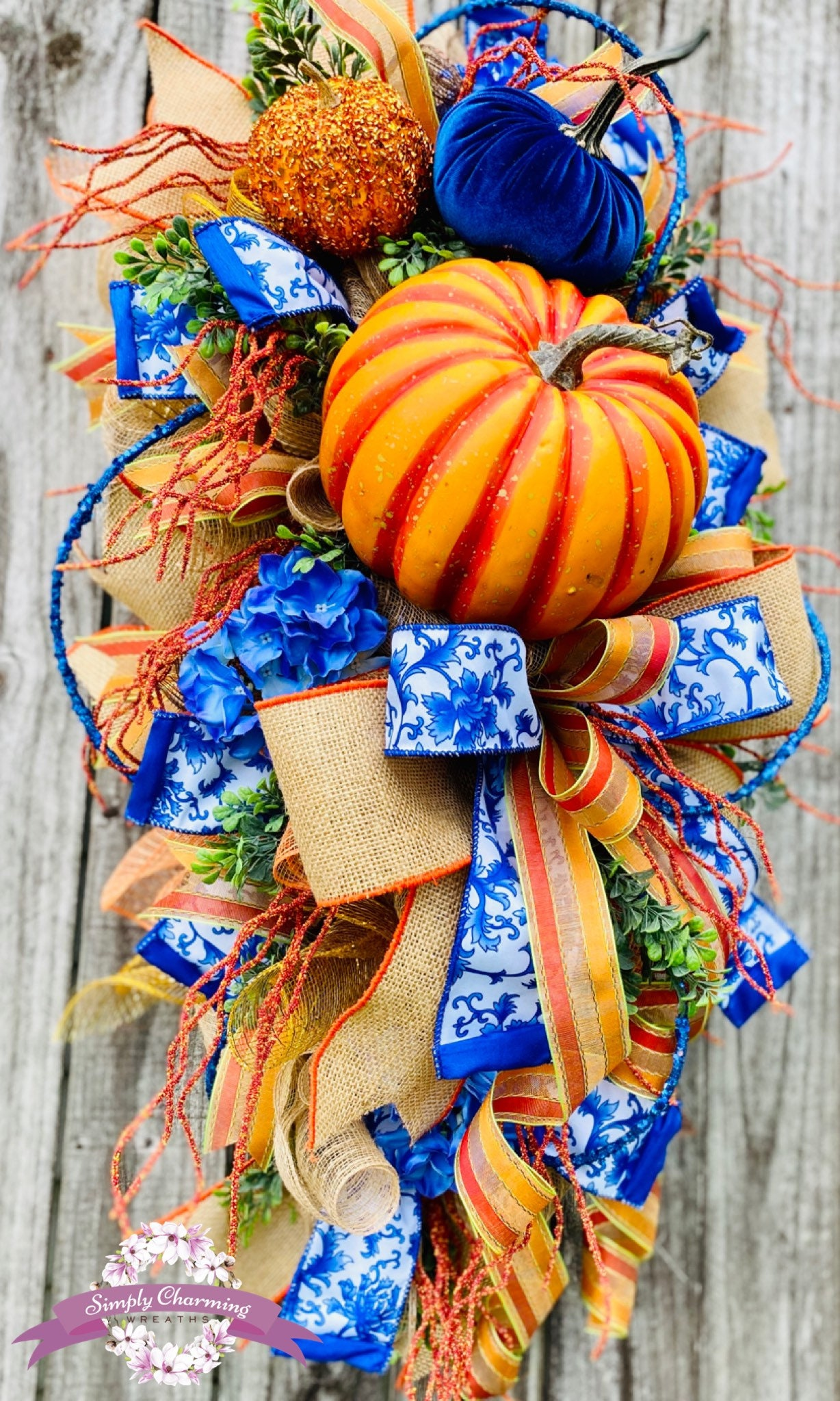 Reserved Fall Pumpkin Wreath Autumn Wreath Fall Swag Xl Fall Wreath Deluxe Fall Wreath