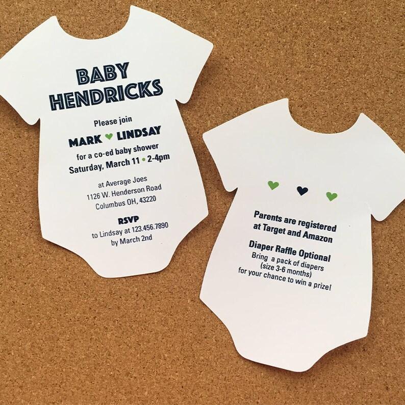 Boy Baby Shower Invitation Coed Baby Shower Invitation Blue Etsy