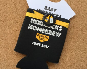 A Baby is Brewing Coed Baby Shower Invitation, Can Cooler Coed Baby Shower Invitation, Baby Shower Invitation, Beer Baby Shower Invitation