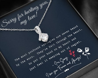 Forgive Necklace Friend Forgiveness Girlfriend Please Forgive Me Gift for Wife Sorry Card Sorry Gift Apology Gift for Her
