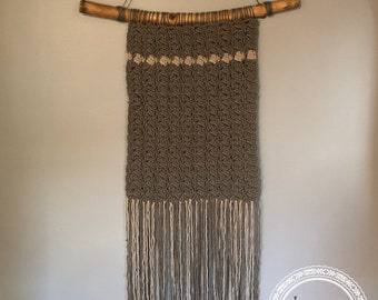 Large Wall Hanging // Crocheted Wall Decor