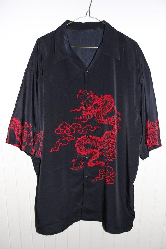 Dragon Anime Y2K button Up UNISEX Shirt