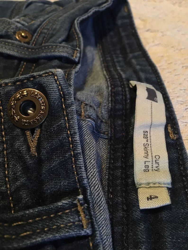 c196f158 Levis vintage 529 curvy skinny leg jeans size 4 used | Etsy