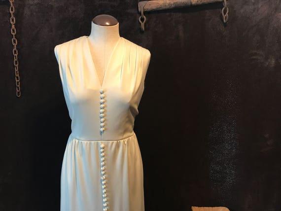 Vintage 1970s Nat Kaplan Couture Dress