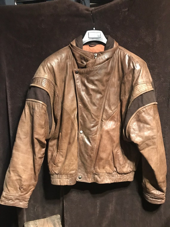 New way Midway size 40 vintage leather coat