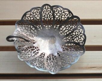 Vintage Footed Basket--International Silver