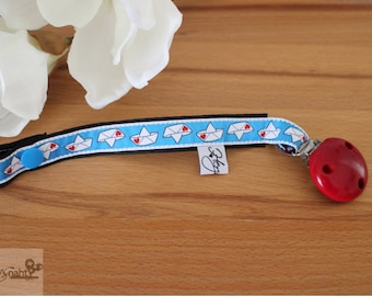 Pacifier pacifier Loveboat paper boat red blue white black