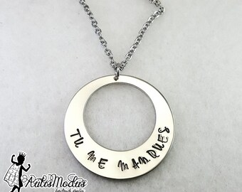 Tu Me Manques Necklace, I Miss You Necklace, French Quote Jewelry, Memorial  Necklace
