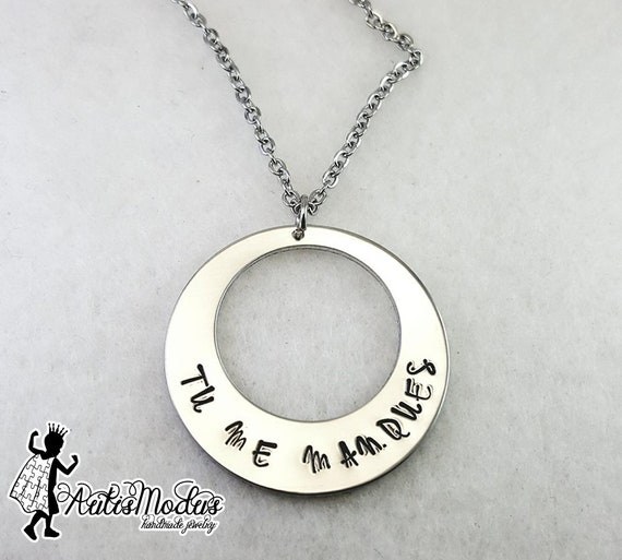 Tu Me Manques Necklace I Miss You Necklace French Quote Etsy